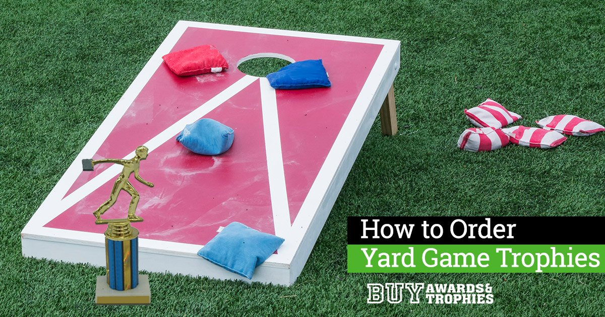 How to Order Yard Game Trophies