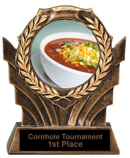 Chili Bowl Cook Off Trophies Victory Resin