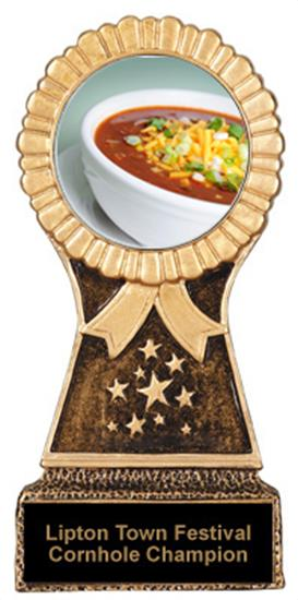 Chili Bowl Cook Off Trophy Resin Stand