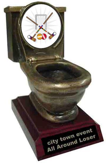 Resin Croquet Toilet Trophy