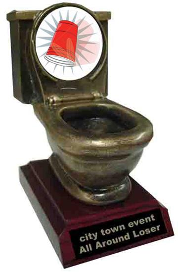 Flip Cup Resing Toilet Trophy