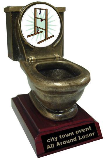 Resin Ladder-golf Toilet Trophy