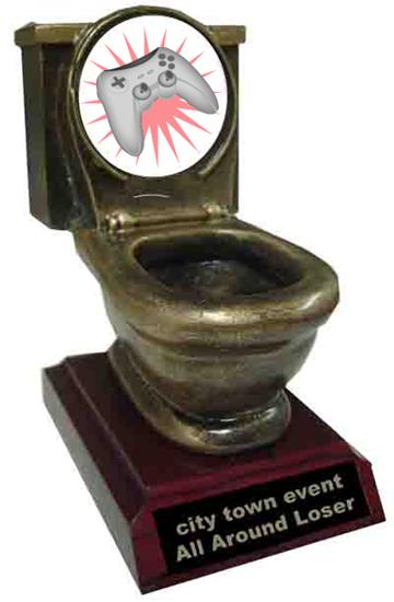 Resin Video Game Toilet Trophy