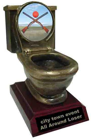 Sporting Clays Toilet Trophy