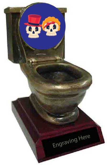 Best Couples Costume Toilet Trophy