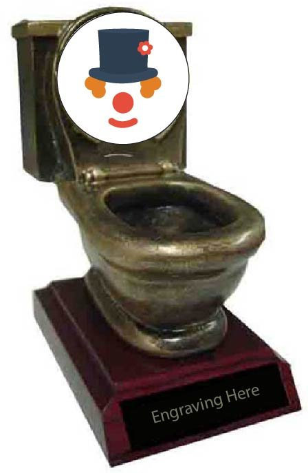 Funniest Costume Toilet Trophy