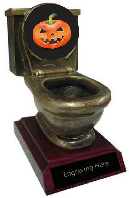 Best Carved Pumpkin Toilet Trophy