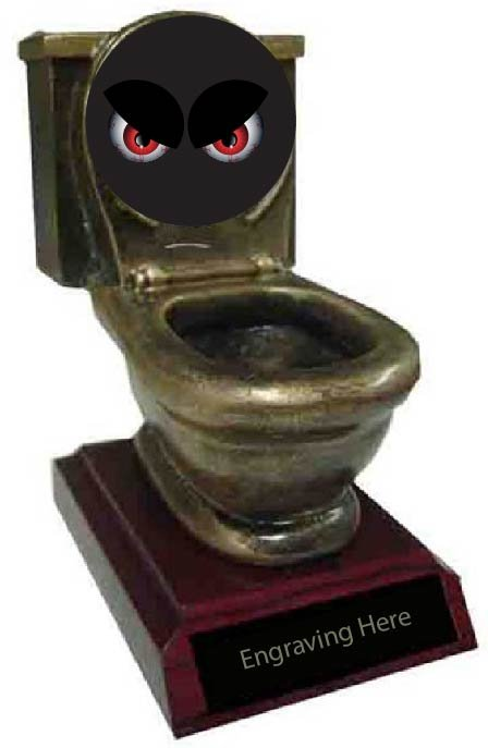 Scariest Costume Toilet Trophy