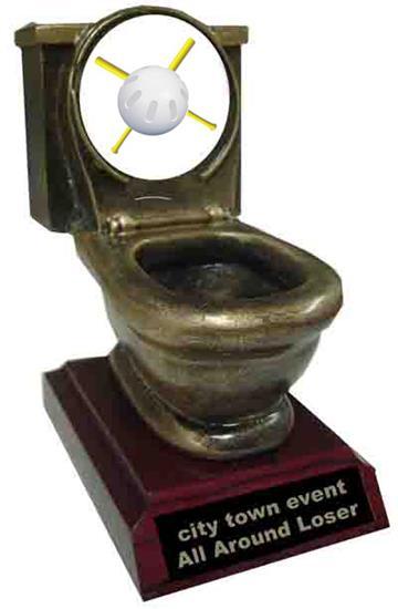 Wiffle Ball Toilet Trophy