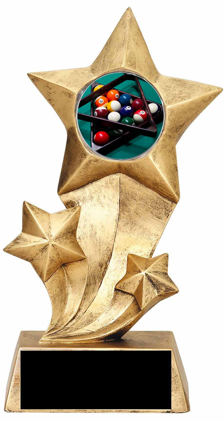 Billiard Resin Star Trophy