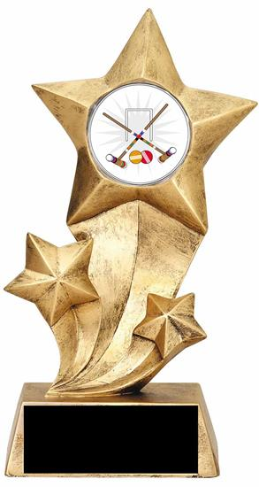 Resin Stars Croquet Trophy