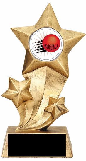 Resin Stars Dodgeball Trophy