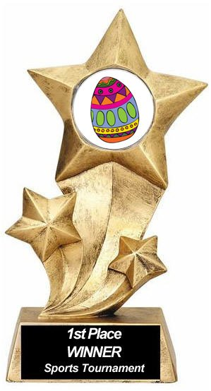 Resin Stars Easter Trophy