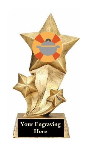 Resin Star Best Thanksgiving Side Dish Trophy