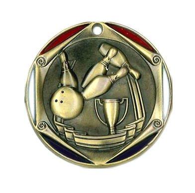Bowling Die Cast Medal
