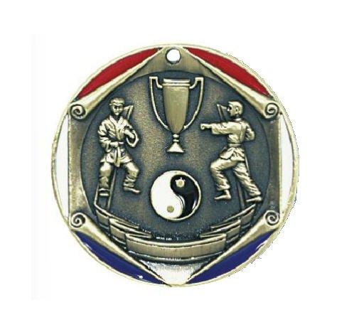 Karate Die Cast Medal