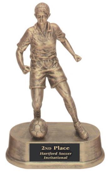 Female Soccer Trophy Resin