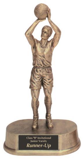 Male Basketball Resin Trophy