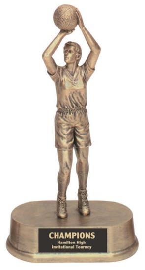 Female Basketball Resin Trophy
