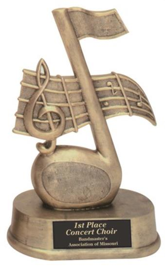 Music Note Trophy Award