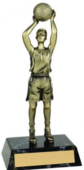 Male Basketball Metallic Trophy