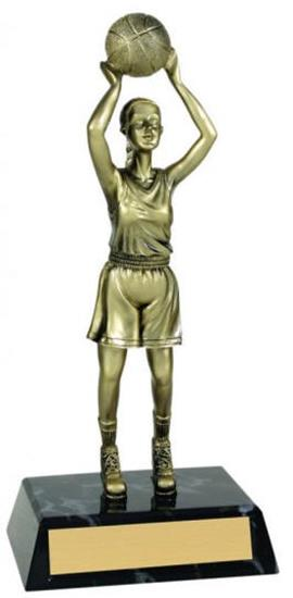 Female Basketball Metallic Trophy