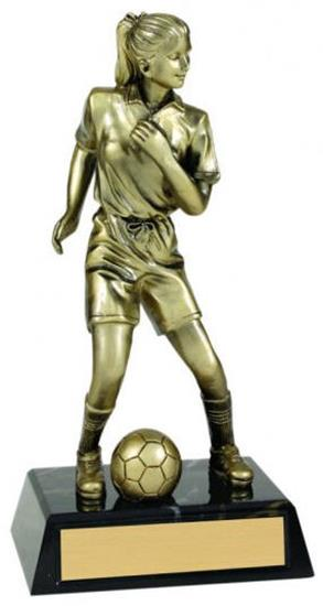Female Soccer Metallic Trophy