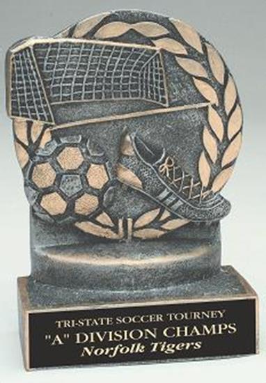 Soccer 4 1/4 Inch Resin Trophy