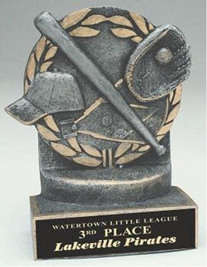 Baseball 4 1/4 Inch Resin Trophy