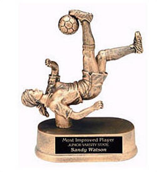 Female Soccer Kick Resin