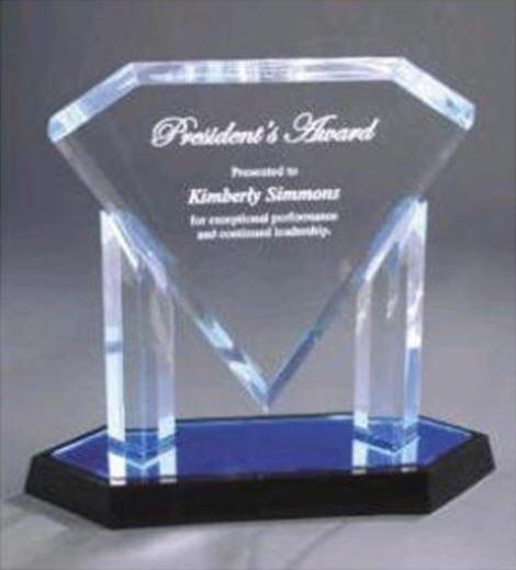 Acrylic Blue Diamond Award
