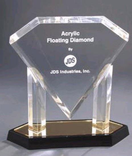 Gold Floating Diamond Acrylic Award