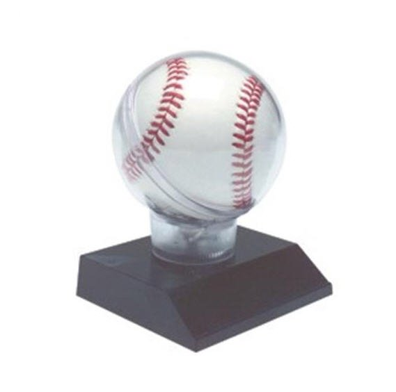 Baseball Display Case with Black Base