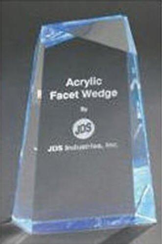 Blue Acrylic Facet Wedge