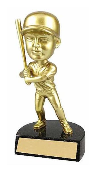 Male Baseball Bobble Head Trophy