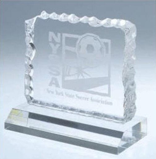 Acrylic Cracked Ice Award