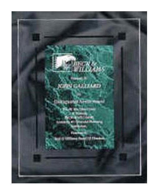 Black Marble Clear Acrylic Plaque