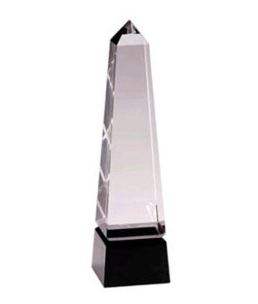 Obelisk Black Pedestal Crystal