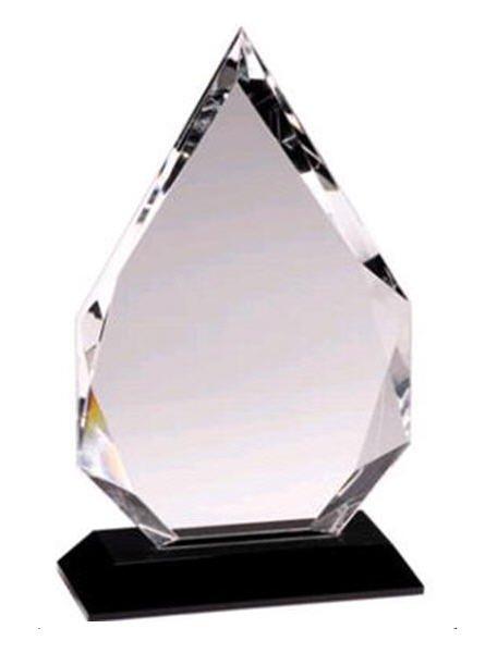 Crystal Diamond Black Pedestal Award