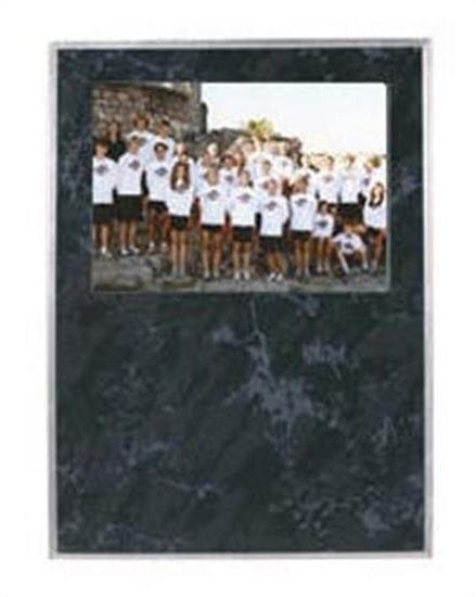 Black Marble Picture Plaque 7x9