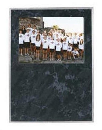 Black Marble Picture Plaque 9x12