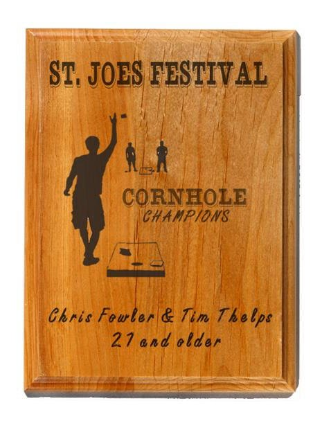 Cornhole Genuine Cherry Plaque