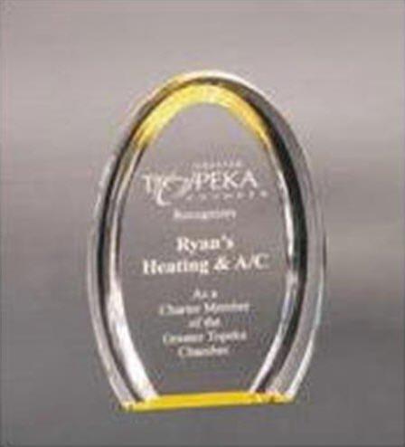 Gold Oval Acrylic Halo Award