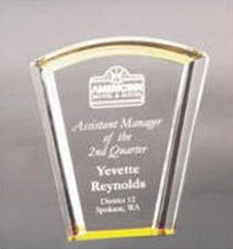 Acrylic Gold Fan Award