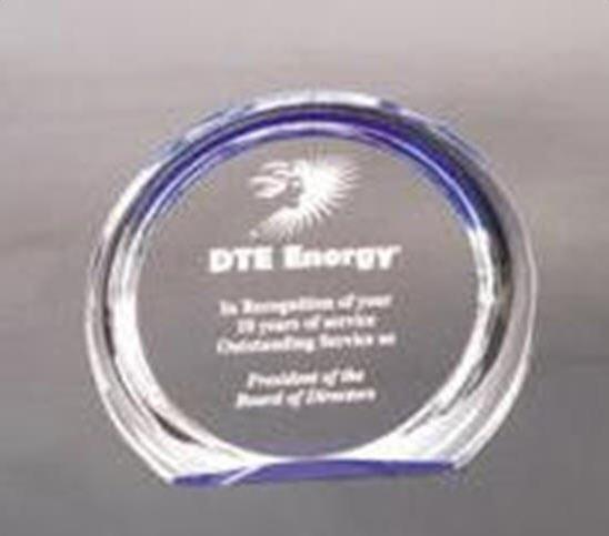 Round Halo Acrylic Award