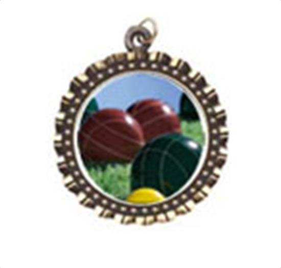 Bocce Ball Neck Medal
