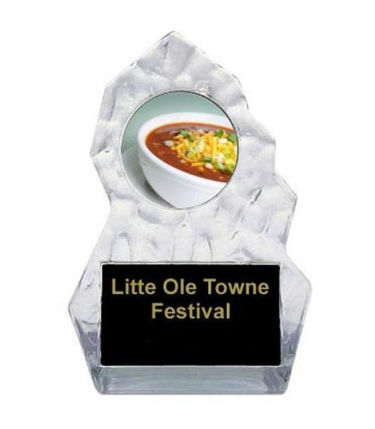 Lightning Sculpted Chili Bowl Cook Off Trophy