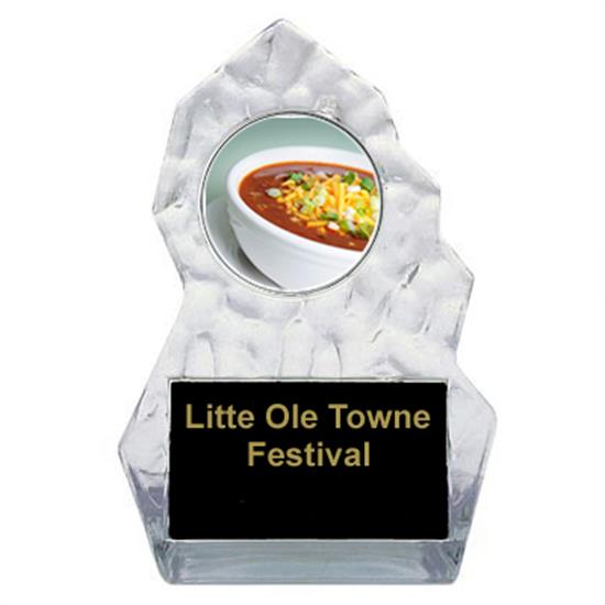 Chili Bowl Cook Off Lightning Sculpted Trophy
