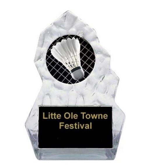 Lightning Sculpted Badminton Trophy