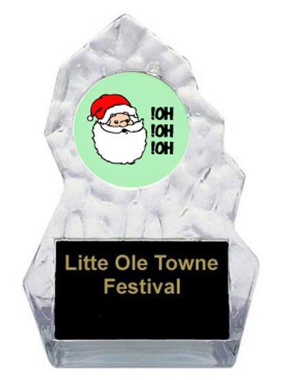 Lightning Sculpted Santa Trophy